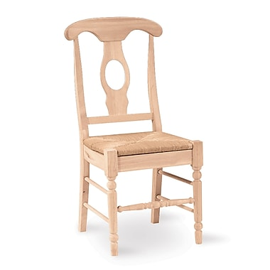 International Concepts Parawood Empire Chair, Unfinished