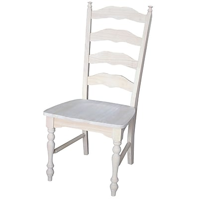 International Concepts Parawood Maine Ladderback Chair, Unfinished