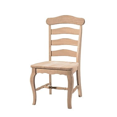 International Concepts Parawood Country French Chair, Unfinished