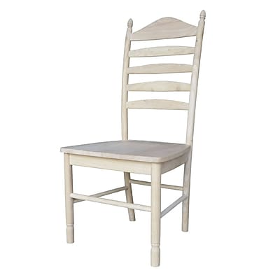 International Concepts Parawood Bedford Ladderback Chair, Unfinished 229238
