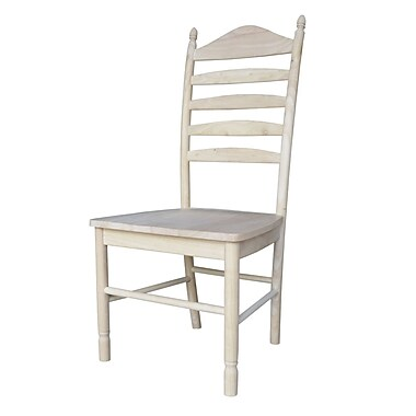 International Concepts Parawood Bedford Ladderback Chair, Unfinished