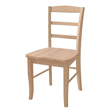 International Concepts Parawood Madrid Chair, Unfinished