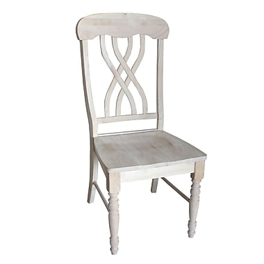 International Concepts Parawood Latticeback Chair, Unfinished
