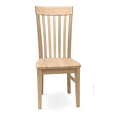 International Concepts 2/Pack Parawood Tall Mission Chair, Unfinished