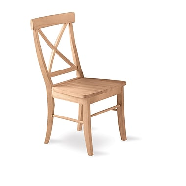 International Concepts Parawood X-Back Chair, Unfinished