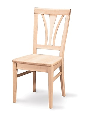 International Concepts Parawood Fanback Chair, Unfinished 229220