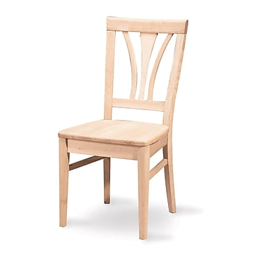 International Concepts Parawood Fanback Chair, Unfinished
