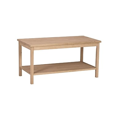 Whitewood Industries Portman Wood Coffee Table, Unfinished, Each (OT-44)