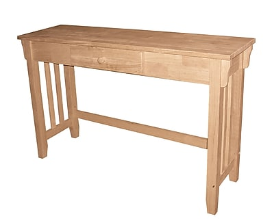 """""International Concepts 29 3/4"""""""" x 45 1/4"""""""" x 13"""""""" Wood Mission Console Table, Unfinished"""""" 229347"