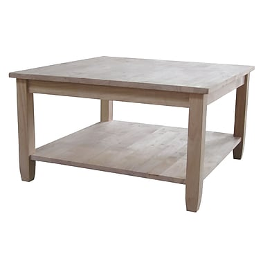Whitewood Industries Solano Wood Coffee Table, Unfinished, Each (OT-6SC)