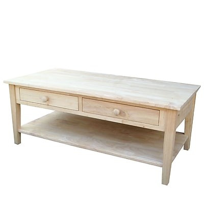 Whitewood Industries Spencer Wood Coffee Table, Unfinished, Each (OT-8C)