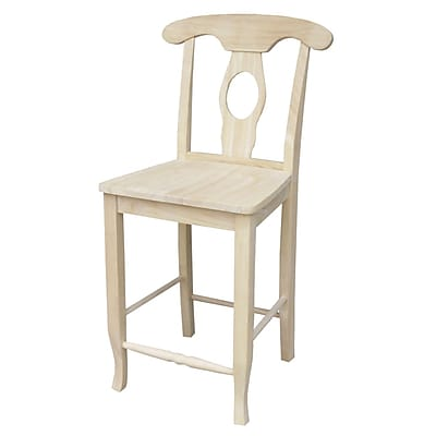 """""International Concepts 40 1/4"""""""" Parawood Empire Stool, Unfinished"""""" 229283"
