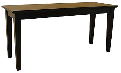 International Concepts Parawood Shaker Styled Bench, Black