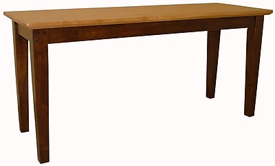 International Concepts Parawood Shaker Styled Bench, Cinnamon/Espresso