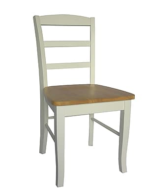 Https://www.staples 3p.com/s7/is/. ×. Images For International Concepts  Wood Madrid Ladderback Chair, White/Natural