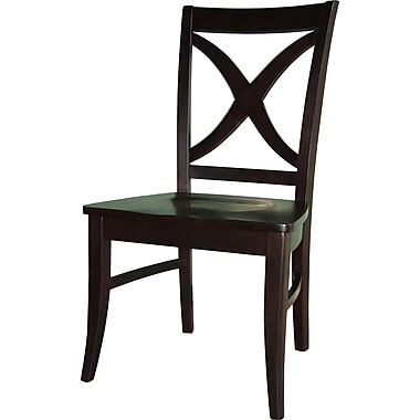 International Concepts Parawood Salerno Chair, Dark Walnut