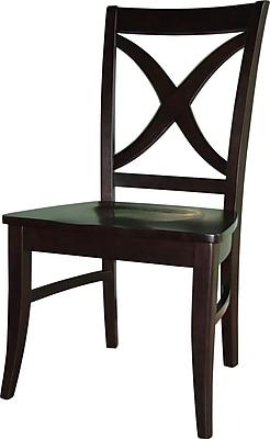 International Concepts Parawood Salerno Chair, Dark Walnut
