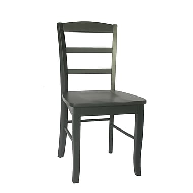 International Concepts Wood Madrid Ladderback Chair, Black