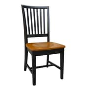 International Concepts Wood Mission Side Chair, Black/Cherry