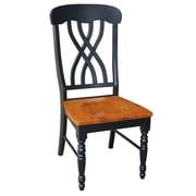 International Concepts Wood Latticeback Chairs