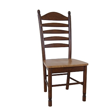 International Concepts Wood Madison Park Tall Ladderback Chair, Cinnamon/Espresso