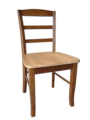 International Concepts Wood Madrid Ladderback Chair, Cinnamon/Espresso