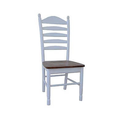 International Concepts Wood Madison Park Tall Ladderback Chair, Heritage Pearl/Oak
