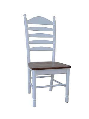 International Concepts Wood Madison Park Tall Ladderback Chair, Heritage Pearl/Oak