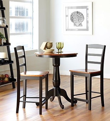 ... Dining Table Set, Black/Cherry. Rollover Image To Zoom In.  Https://www.staples 3p.com/s7/is/