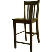 "International Concepts 24"" Solid Wood San Remo Counterheight Stool, Rich Mocha"
