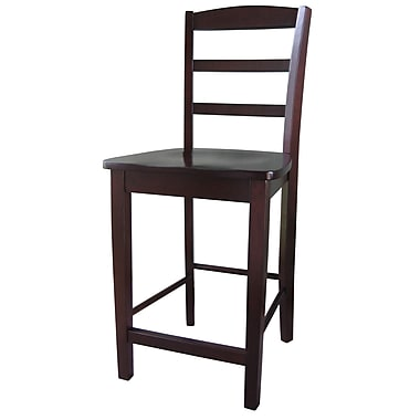 International Concepts 41'' Contemporary Swiveling Base Bar Stool, Rich Mocha (S15-402)
