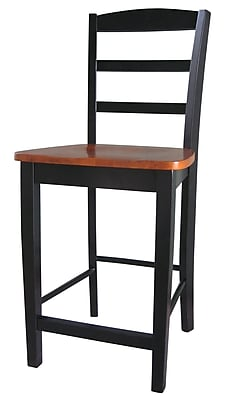International Concepts 41'' Contemporary Legged Base Bar Stool, Black/Cherry (S57-402)