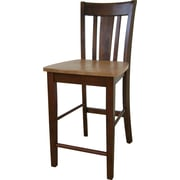 "International Concepts 24"" Solid Wood San Remo Counterheight Stool, Cinnamon/Espresso"