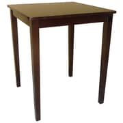 """International Concepts 36"""" x 30"""" x 30"""" Square Solid Wood Counterheight Table, Rich Mocha"""