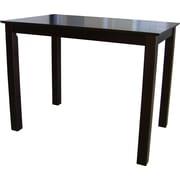 "International Concepts 30"" x 30"" x 48"" Rectangle Wood Counterheight Table, Rich Mocha"