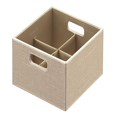 Rubbermaid® Small Bento Storage Box, Loose Linen