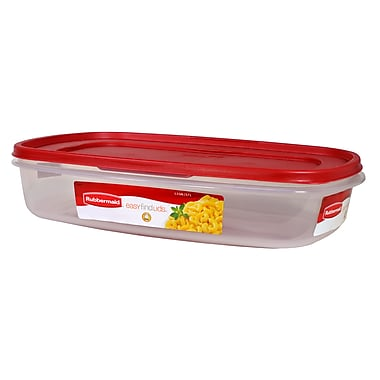 Rubbermaid® 1.5 gal Easy Find Lids Rectangle Container, Racer Red