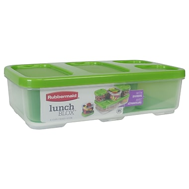 Rubbermaid® 4.1 Cup Entree Container with Dividers, Guacamole