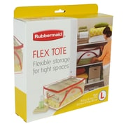 Rubbermaid® 30 gal Large Flexible Tote, Clear