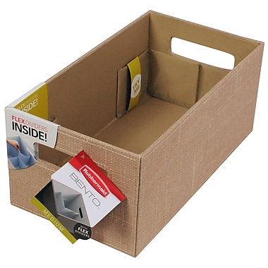 Rubbermaid® Medium Bento Storage Box, Loose Linen