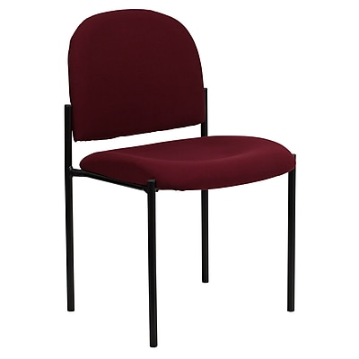 Flash Furniture Fabric Stackable Steel Side Chair, Burgundy