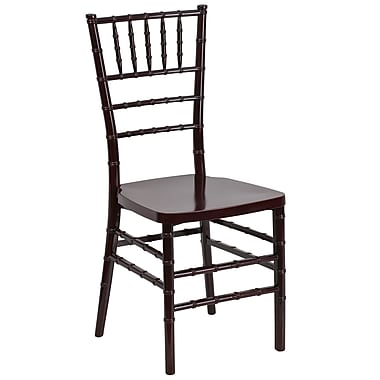 Flash Furniture – Chaise Chiavari empilable Flash Elegance, résine, acajou