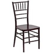 Flash Furniture Flash Elegance Resin Stacking Chiavari Chair, Mahogany, 20/Pack