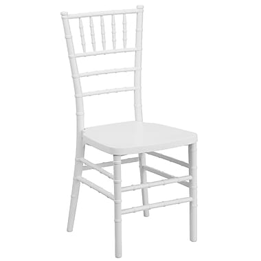 Flash Furniture – Chaise Chiavari empilable Flash Elegance, résine, blanc