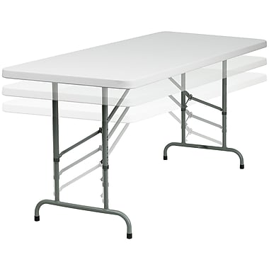 Flash Furniture Height Adjustable Folding Table Staples - Adjustable height training table