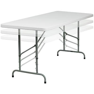 "Flash Furniture 72"" Height Adjustable Folding Table, Granite White, 15/Pack (15RB3072ADJ)"