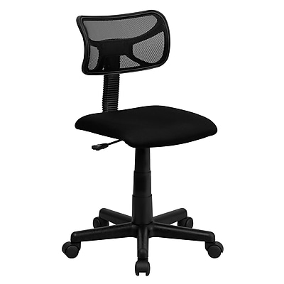 Flash Furniture Mesh Computer and Desk Office Chair, Armless, Black (BT61381BK)