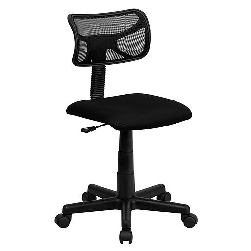 Flash Furniture Mesh Computer and Desk Office Chair, Armless, Black (BT61381BK)