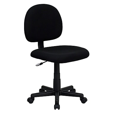Flash Furniture BT-660-BK-GG Fabric Mid-Back Armless Task Chair, Black