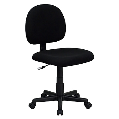 Flash Furniture Fabric Computer and Desk Office Chair, Armless, Black (BT660BLK)